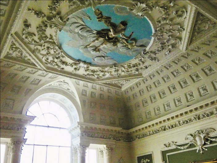 The ceiling of Lytham hall