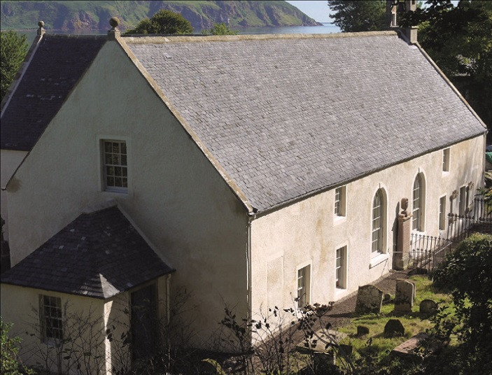 Repaired parish church of Cromarty.