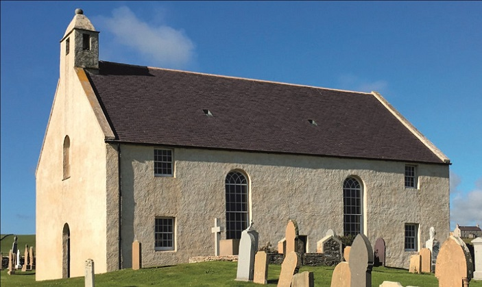 St Peter's, Sandwick, restored and now used to host events.